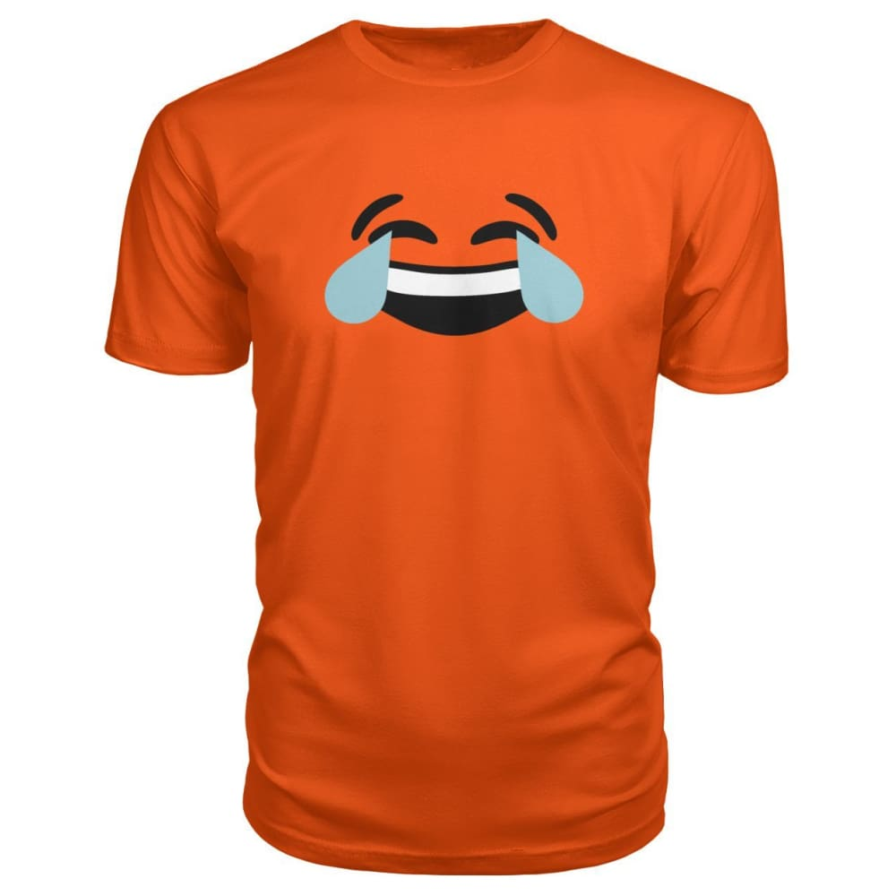 Crying Laughing Face Premium Tee - Orange / S - Short Sleeves