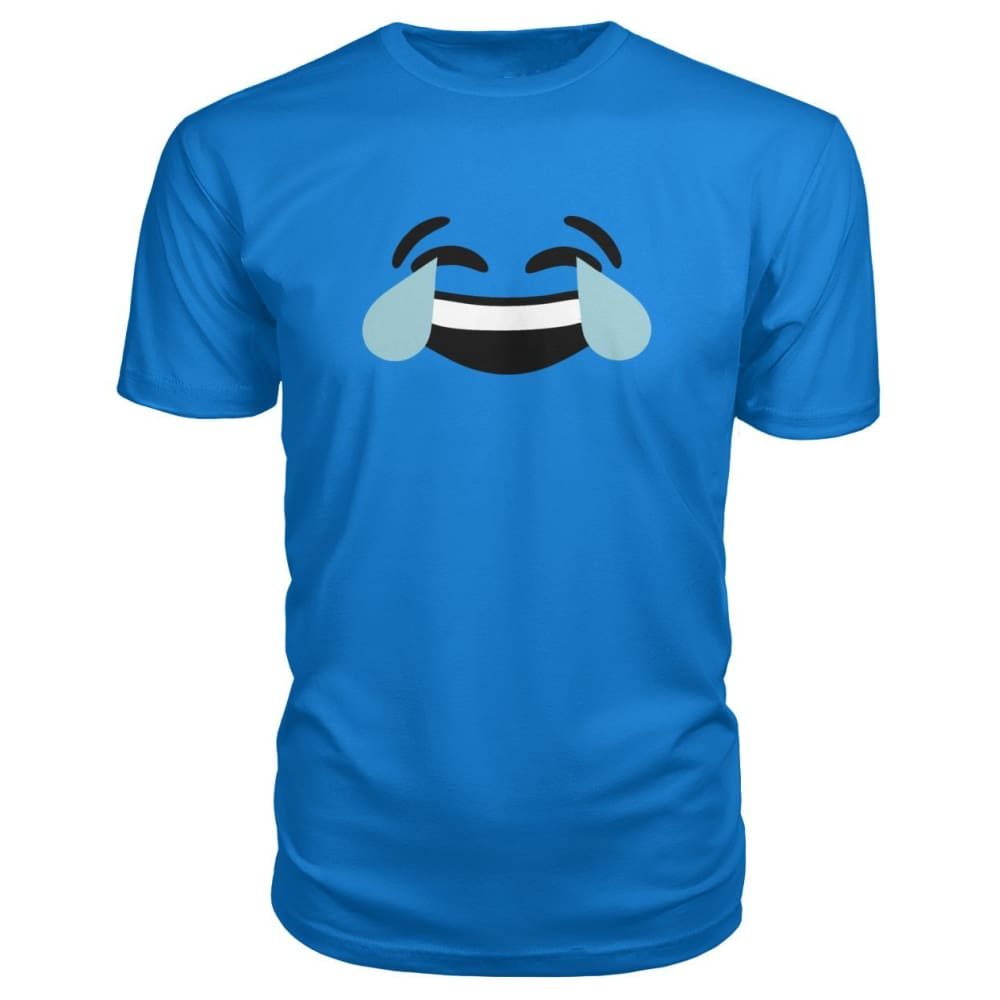 Crying Laughing Face Premium Tee - Royal Blue / S - Short Sleeves