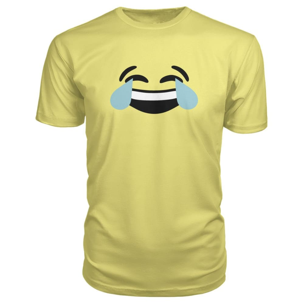 Crying Laughing Face Premium Tee - Spring Yellow / S - Short Sleeves