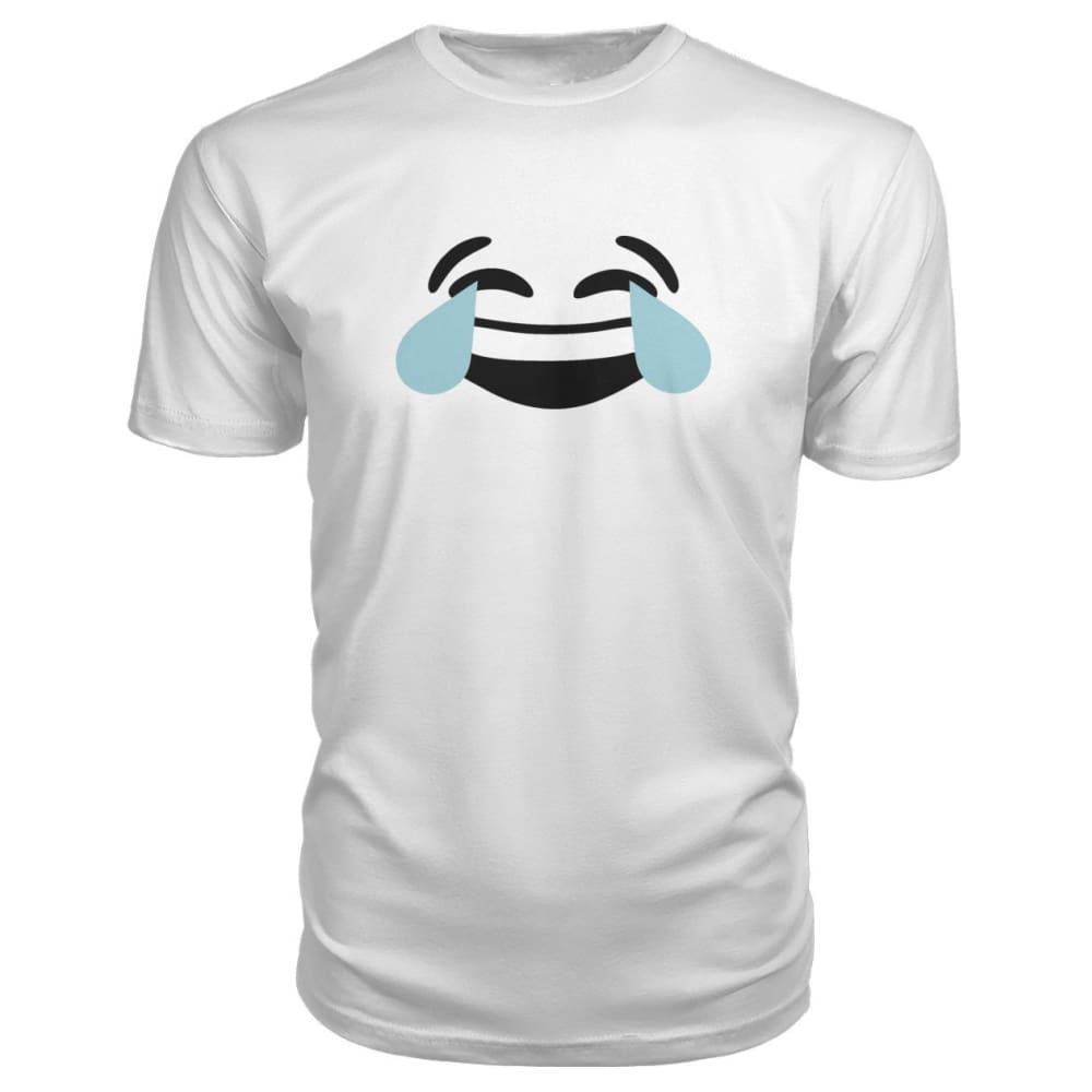 Crying Laughing Face Premium Tee - White / S - Short Sleeves