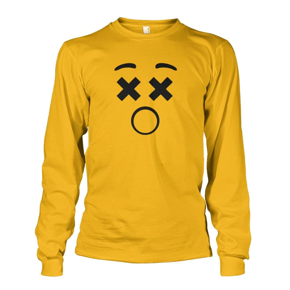 Dizzy Face Long Sleeve - Gold / S - Long Sleeves