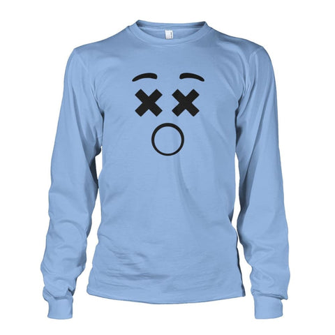 Image of Dizzy Face Long Sleeve - Light Blue / S - Long Sleeves