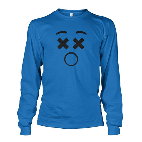 Image of Dizzy Face Long Sleeve - Sapphire / S - Long Sleeves