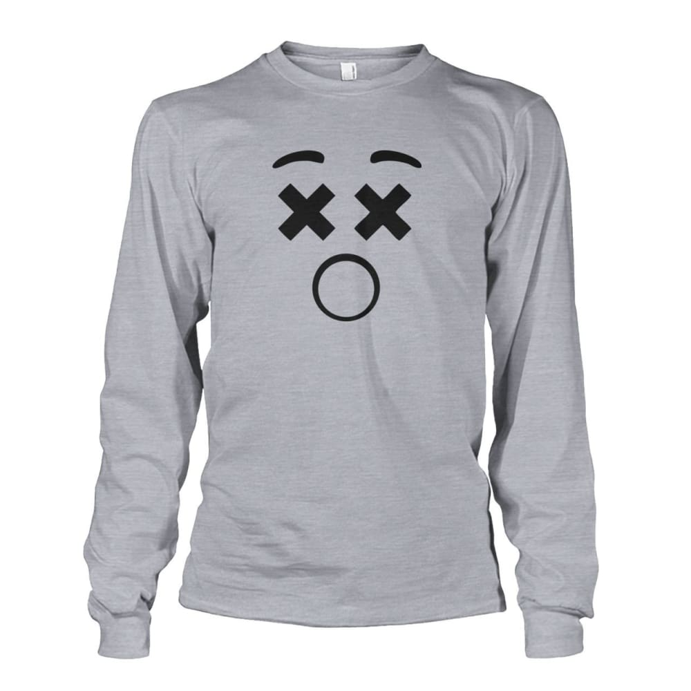 Dizzy Face Long Sleeve - Sports Grey / S - Long Sleeves