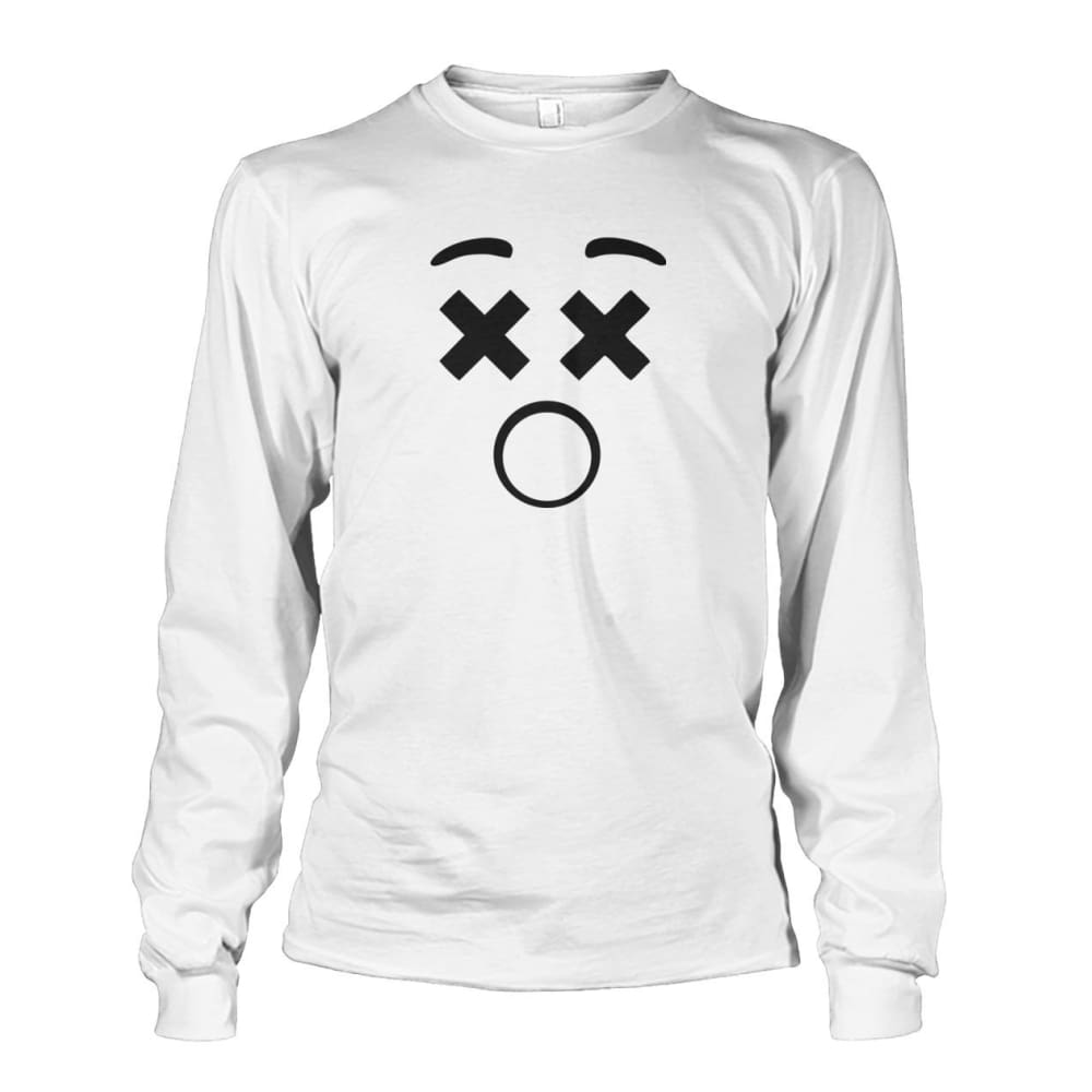 Dizzy Face Long Sleeve - White / S - Long Sleeves