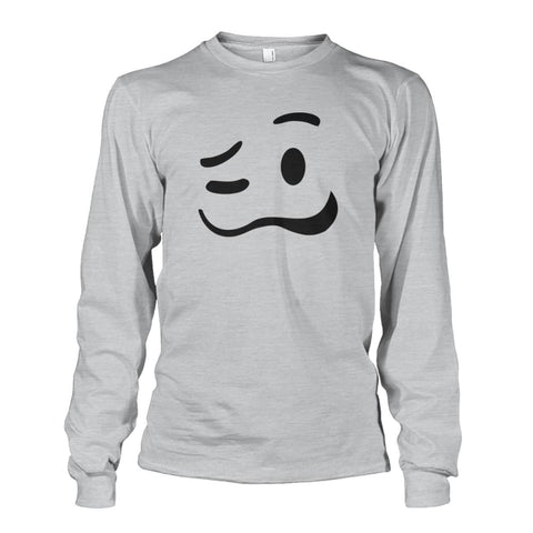 Image of Drunk Face Long Sleeve - Ash Grey / S - Long Sleeves