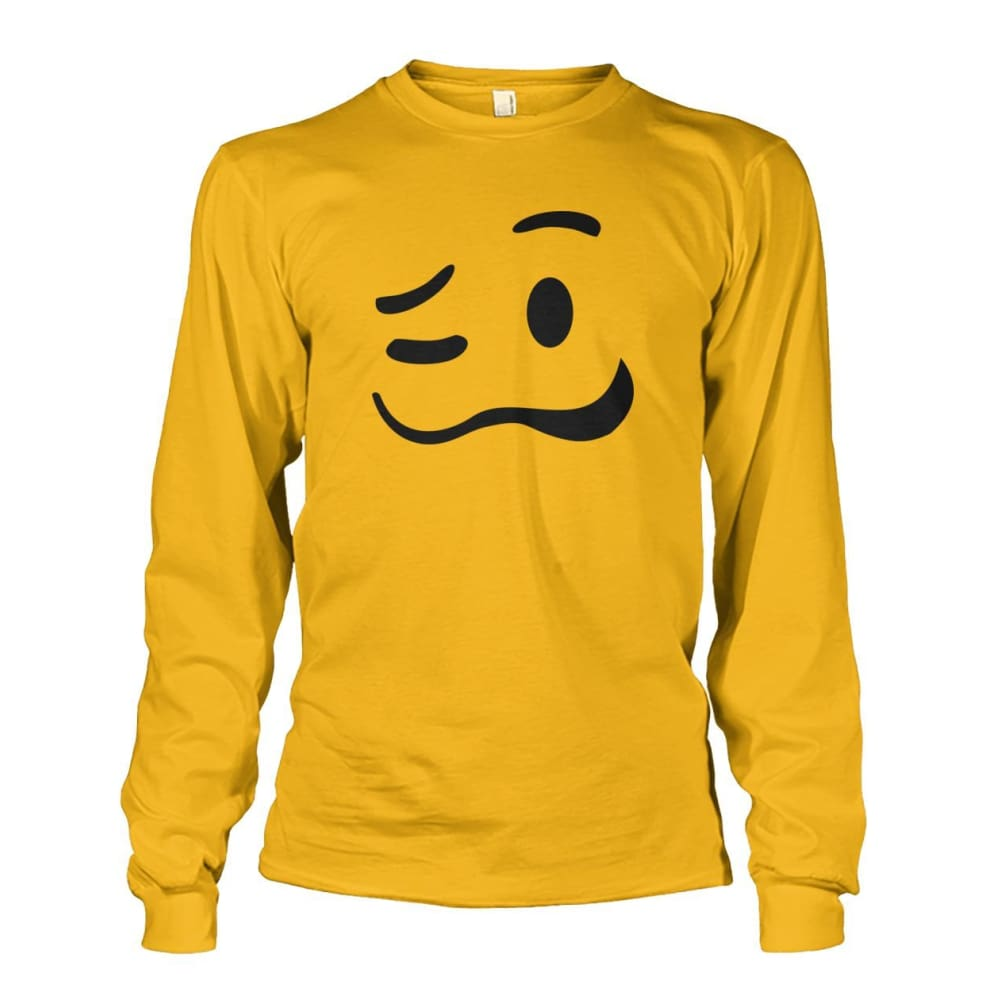 Drunk Face Long Sleeve - Gold / S - Long Sleeves