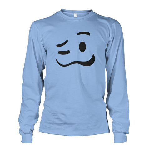 Image of Drunk Face Long Sleeve - Light Blue / S - Long Sleeves