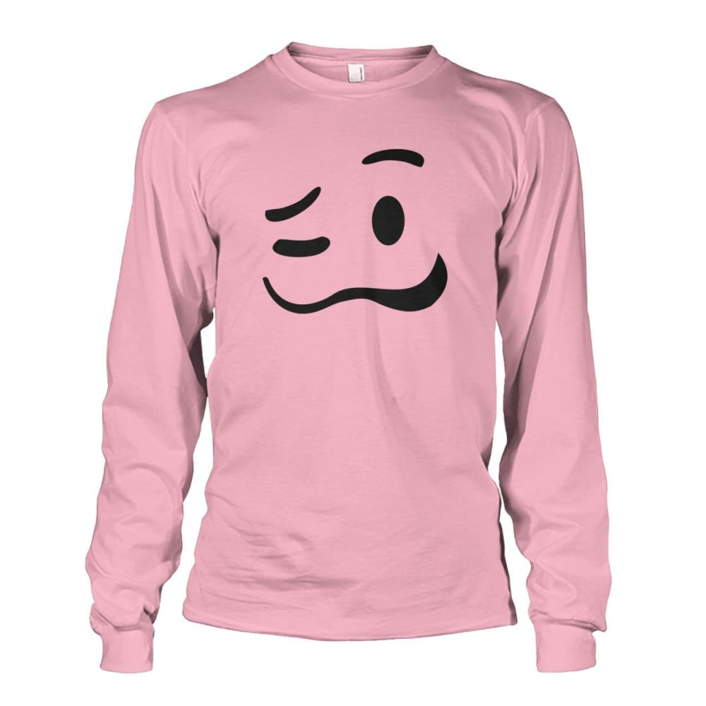 Drunk Face Long Sleeve - Light Pink / S - Long Sleeves