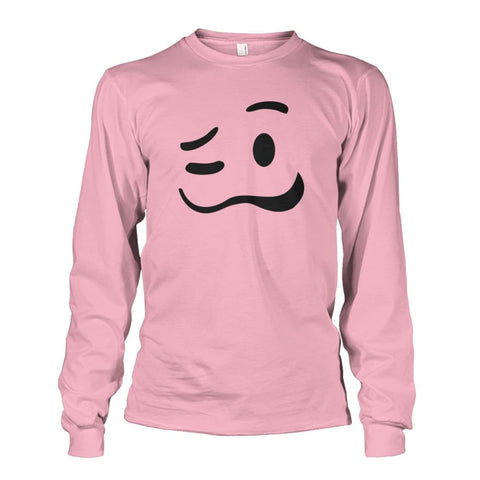 Image of Drunk Face Long Sleeve - Light Pink / S - Long Sleeves