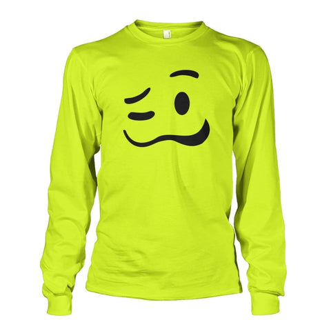 Image of Drunk Face Long Sleeve - Safety Green / S - Long Sleeves