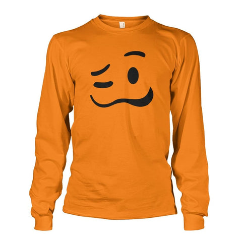 Image of Drunk Face Long Sleeve - Safety Orange / S - Long Sleeves