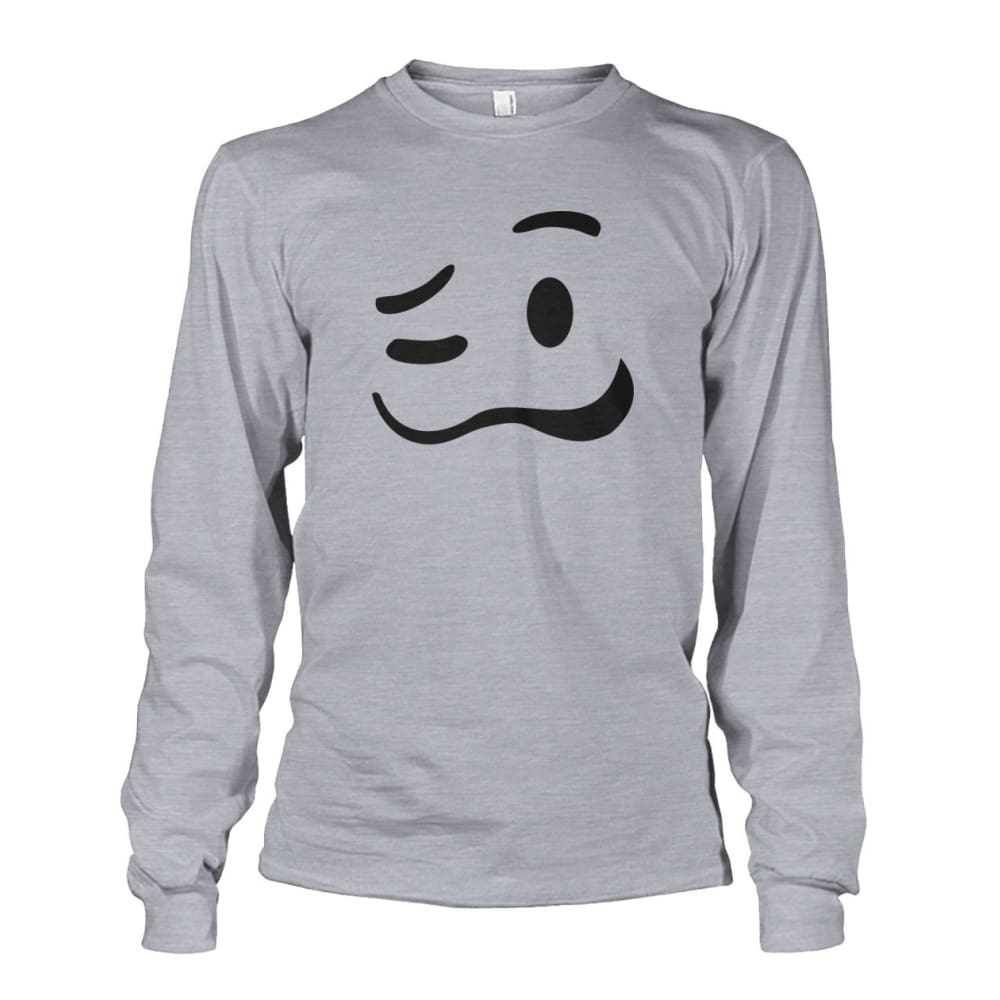 Drunk Face Long Sleeve - Sports Grey / S - Long Sleeves
