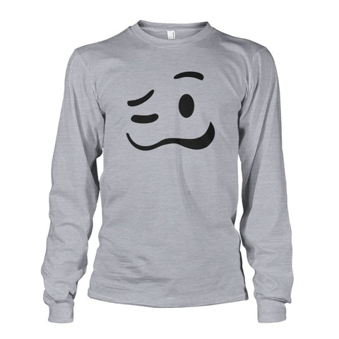 Image of Drunk Face Long Sleeve - Sports Grey / S - Long Sleeves