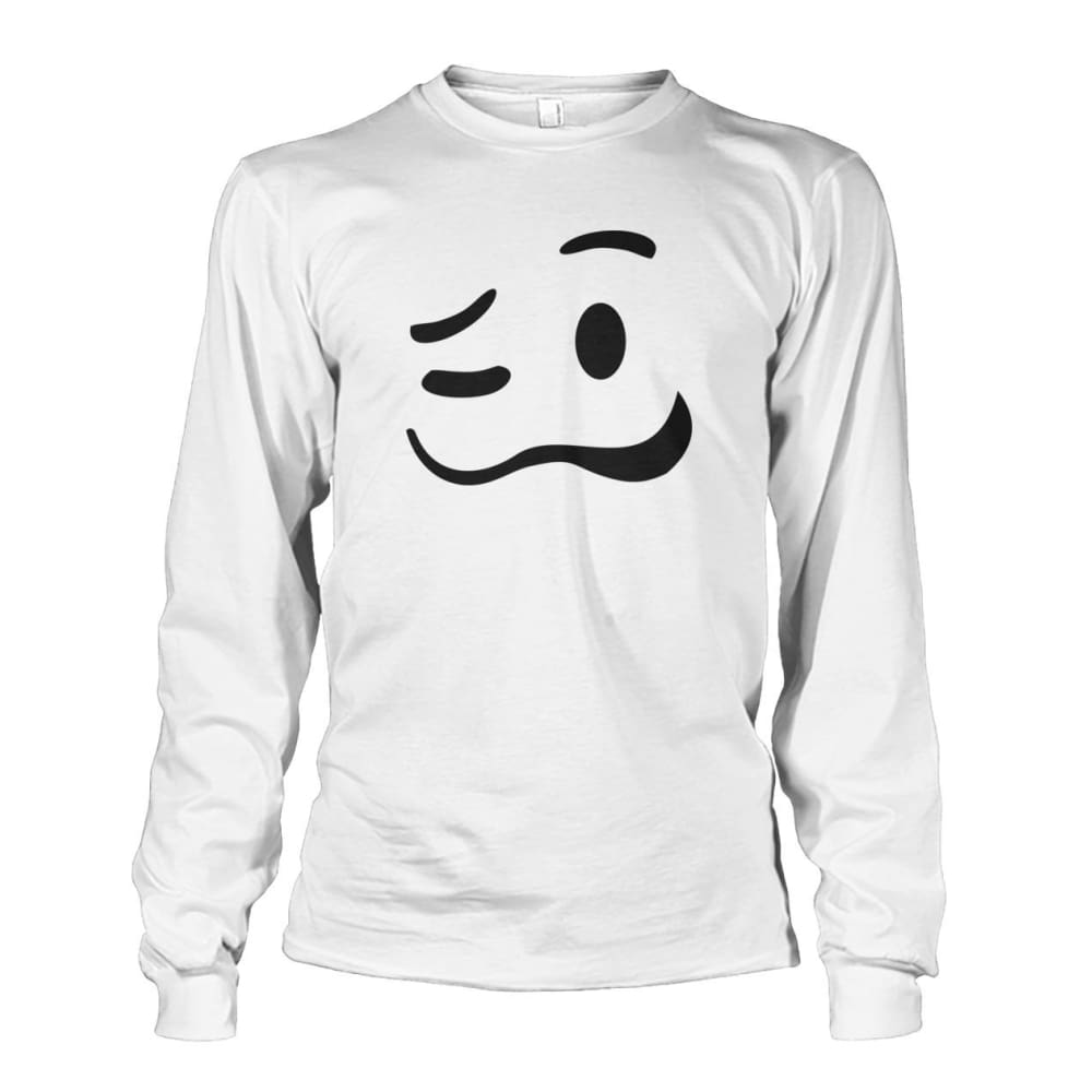 Drunk Face Long Sleeve - White / S - Long Sleeves