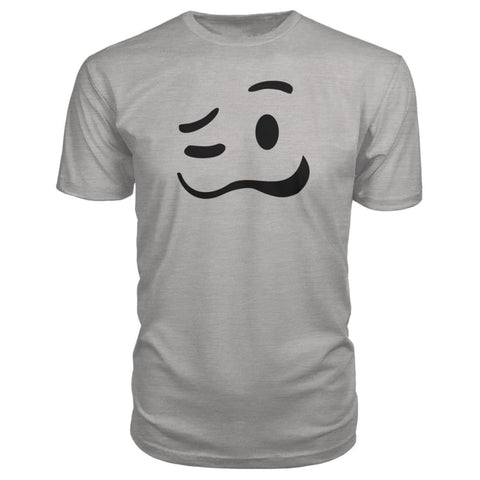 Image of Drunk Face Premium Tee - Heather Grey / S - Short Sleeves