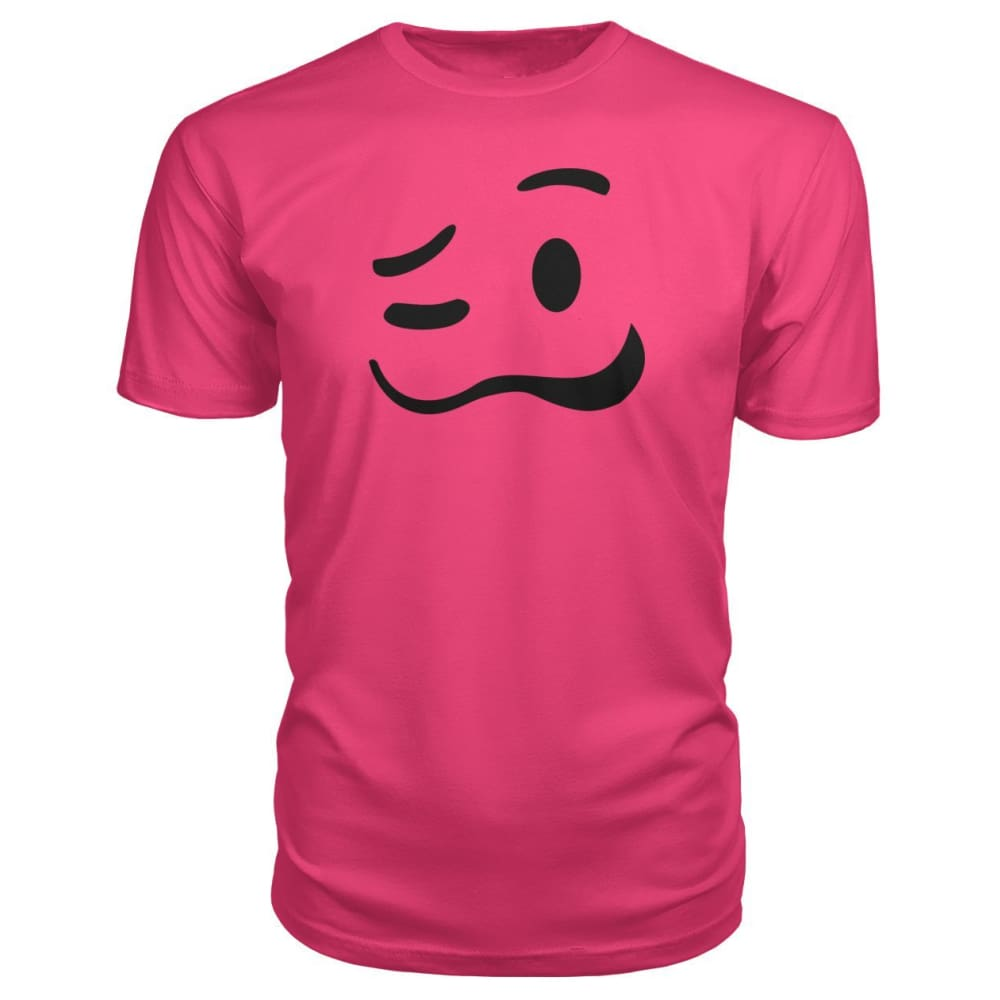 Drunk Face Premium Tee - Hot Pink / S - Short Sleeves