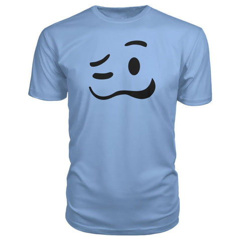Image of Drunk Face Premium Tee - Light Blue / S - Short Sleeves