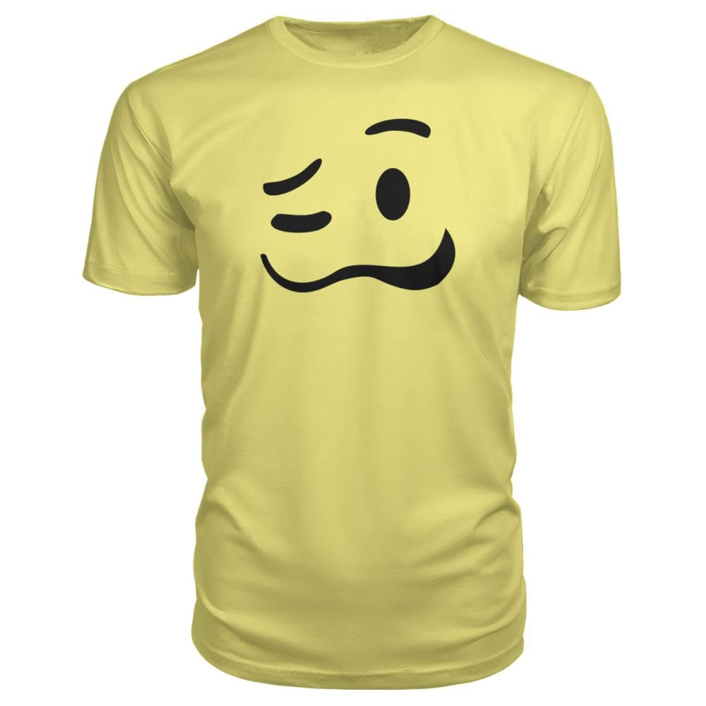 Drunk Face Premium Tee - Spring Yellow / S - Short Sleeves