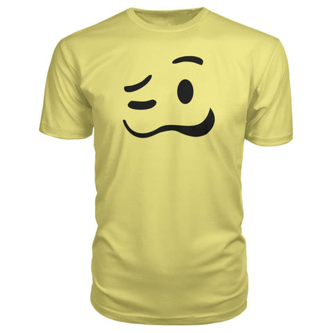 Image of Drunk Face Premium Tee - Spring Yellow / S - Short Sleeves