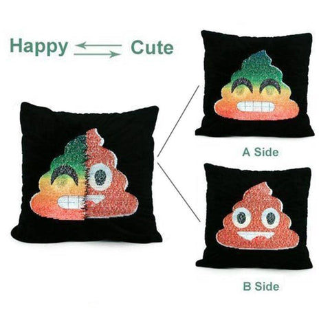 Image of Emoji Sequin Pillow Case