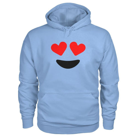 Heart Eyes Hoodie - Light Blue / S - Hoodies