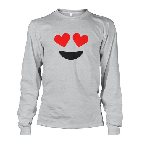 Image of Heart Eyes Long Sleeve - Ash Grey / S - Long Sleeves