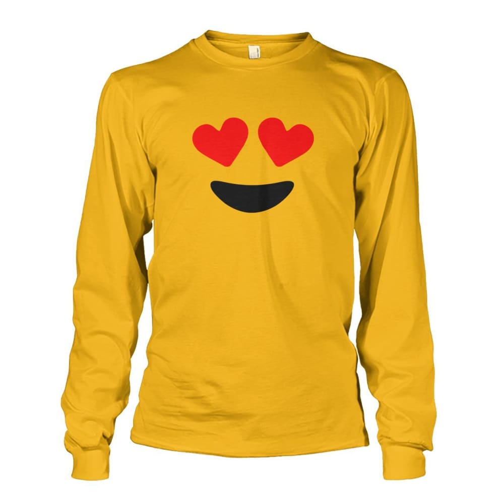Heart Eyes Long Sleeve - Gold / S - Long Sleeves