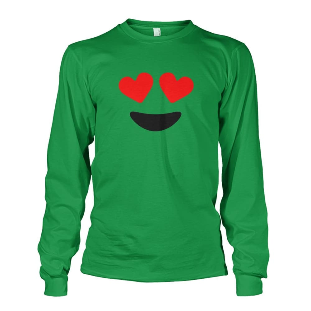 Heart Eyes Long Sleeve - Irish Green / S - Long Sleeves