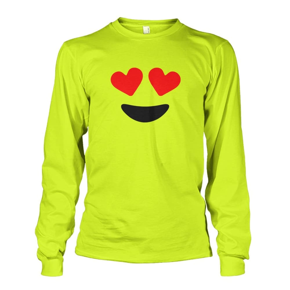 Heart Eyes Long Sleeve - Safety Green / S - Long Sleeves
