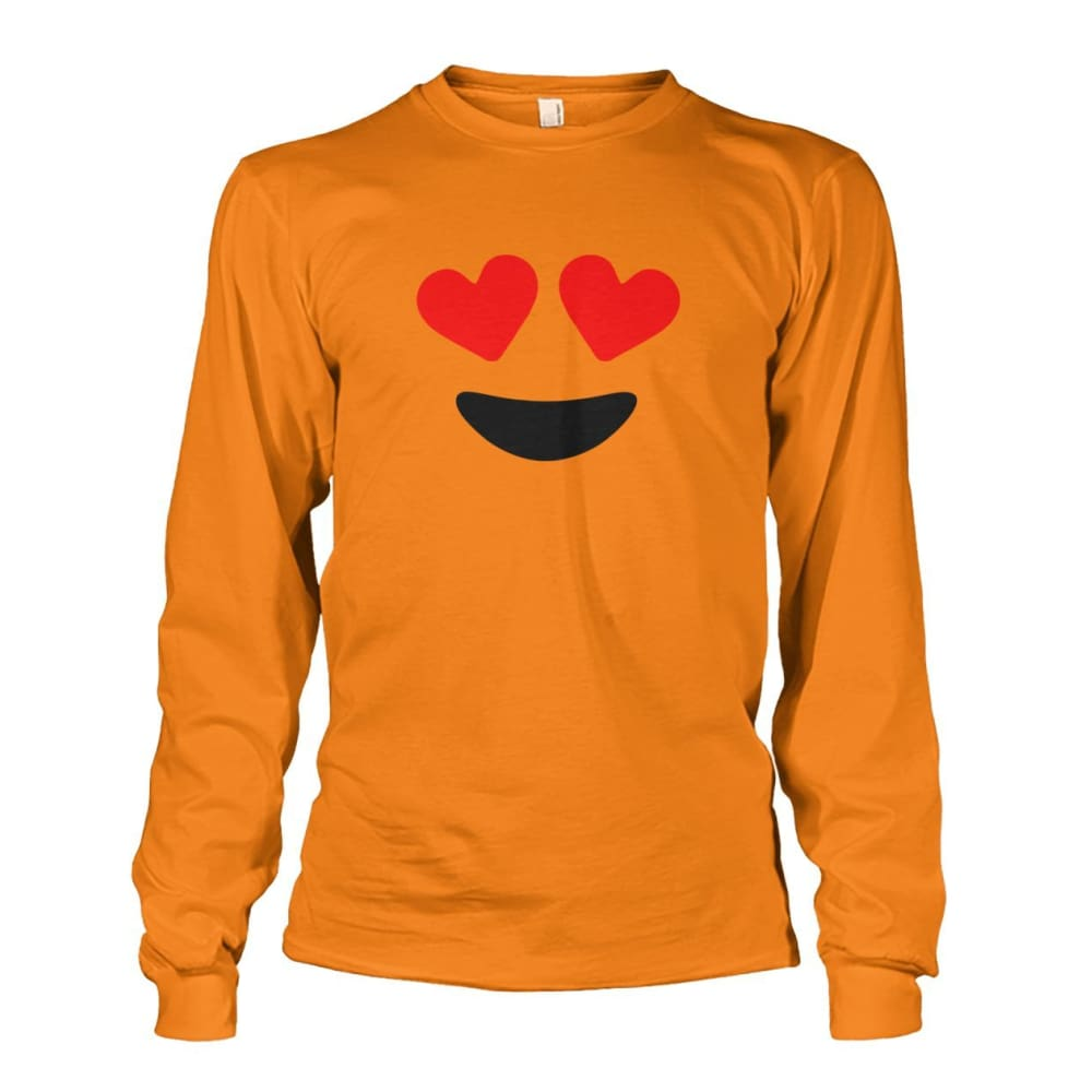 Heart Eyes Long Sleeve - Safety Orange / S - Long Sleeves