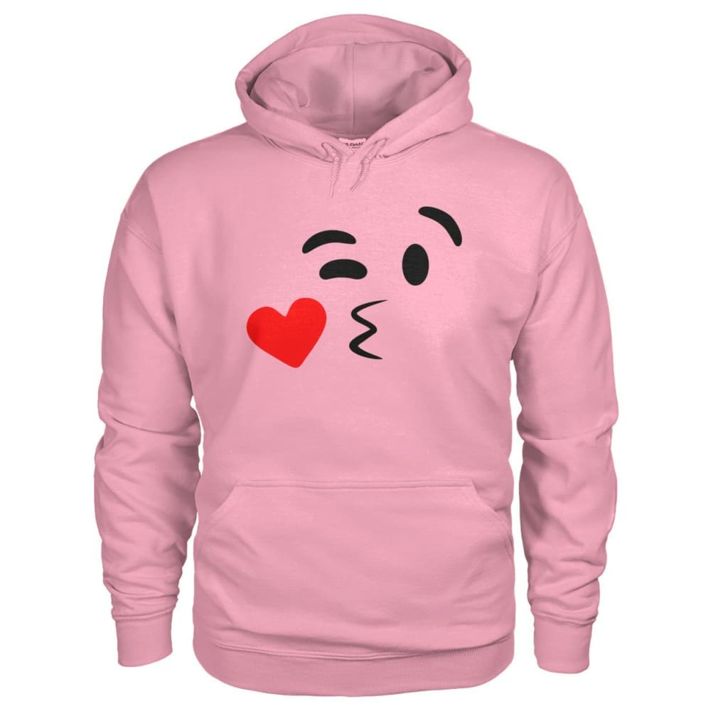 Kissing Face Hoodie - Classic Pink / S - Hoodies