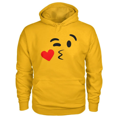 Image of Kissing Face Hoodie - Gold / S - Hoodies