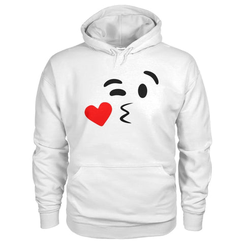 Image of Kissing Face Hoodie - White / S - Hoodies