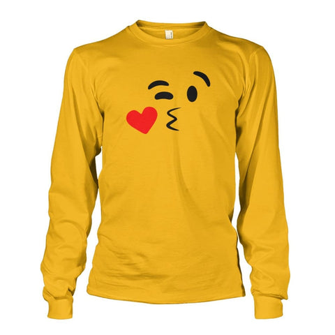 Image of Kissing Face Long Sleeve - Gold / S - Long Sleeves