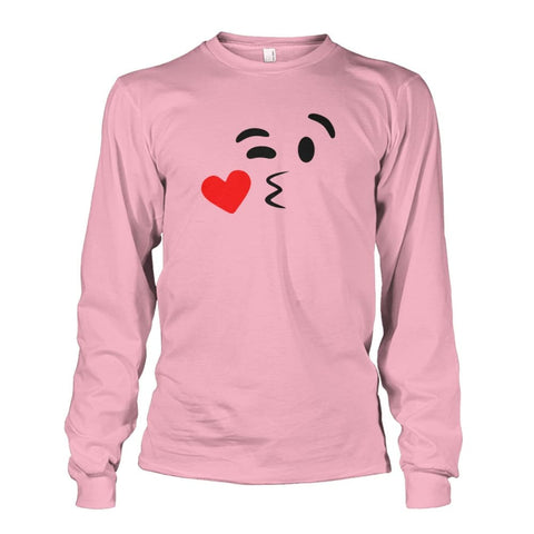 Image of Kissing Face Long Sleeve - Light Pink / S - Long Sleeves