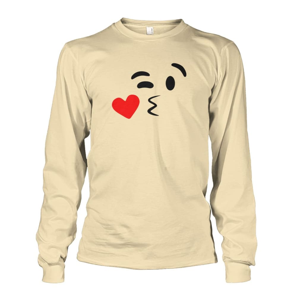 Kissing Face Long Sleeve - Sand / S - Long Sleeves