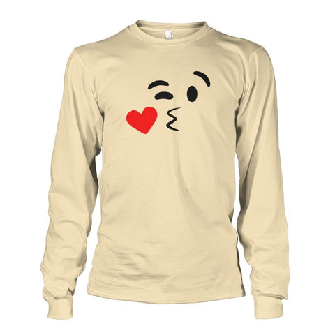 Image of Kissing Face Long Sleeve - Sand / S - Long Sleeves