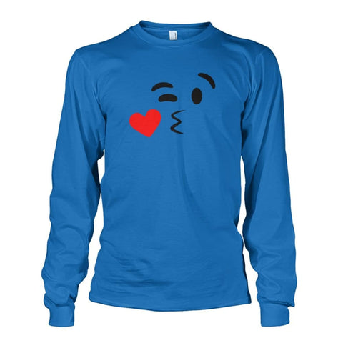 Image of Kissing Face Long Sleeve - Sapphire / S - Long Sleeves