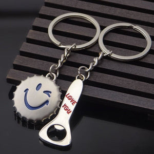LOVE YOU Metal Key Chain Pendant