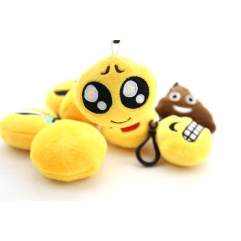 Image of Mini Emoji Plush Key Chains Set