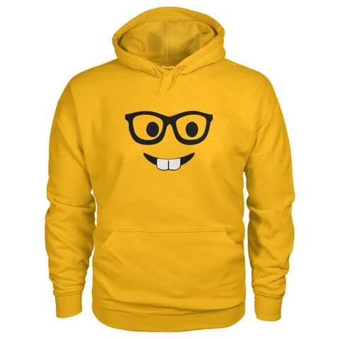 Image of Nerdy Face Hoodie - Gold / S - Hoodies
