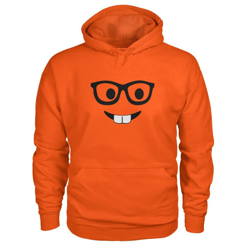 Image of Nerdy Face Hoodie - Orange / S - Hoodies
