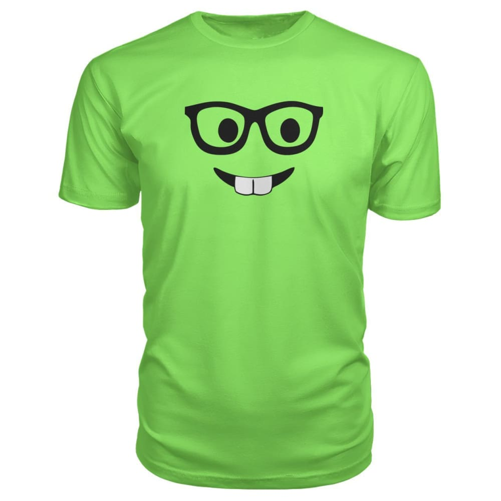Nerdy Face Premium Tee - Key Lime / S - Short Sleeves