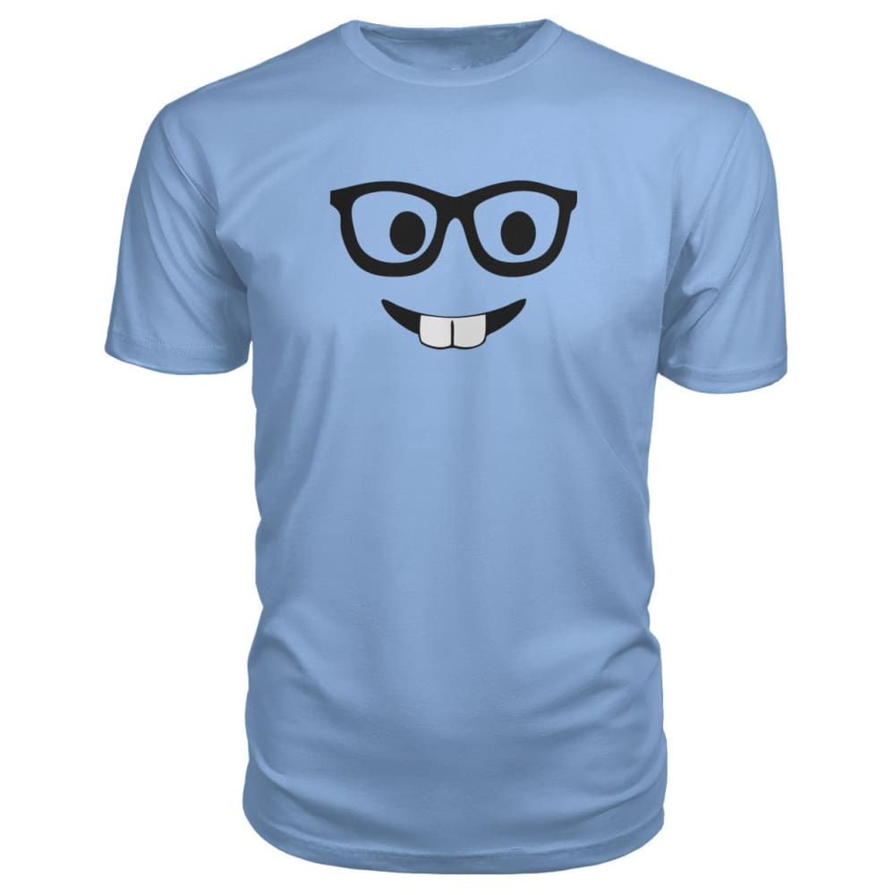 Nerdy Face Premium Tee - Light Blue / S - Short Sleeves