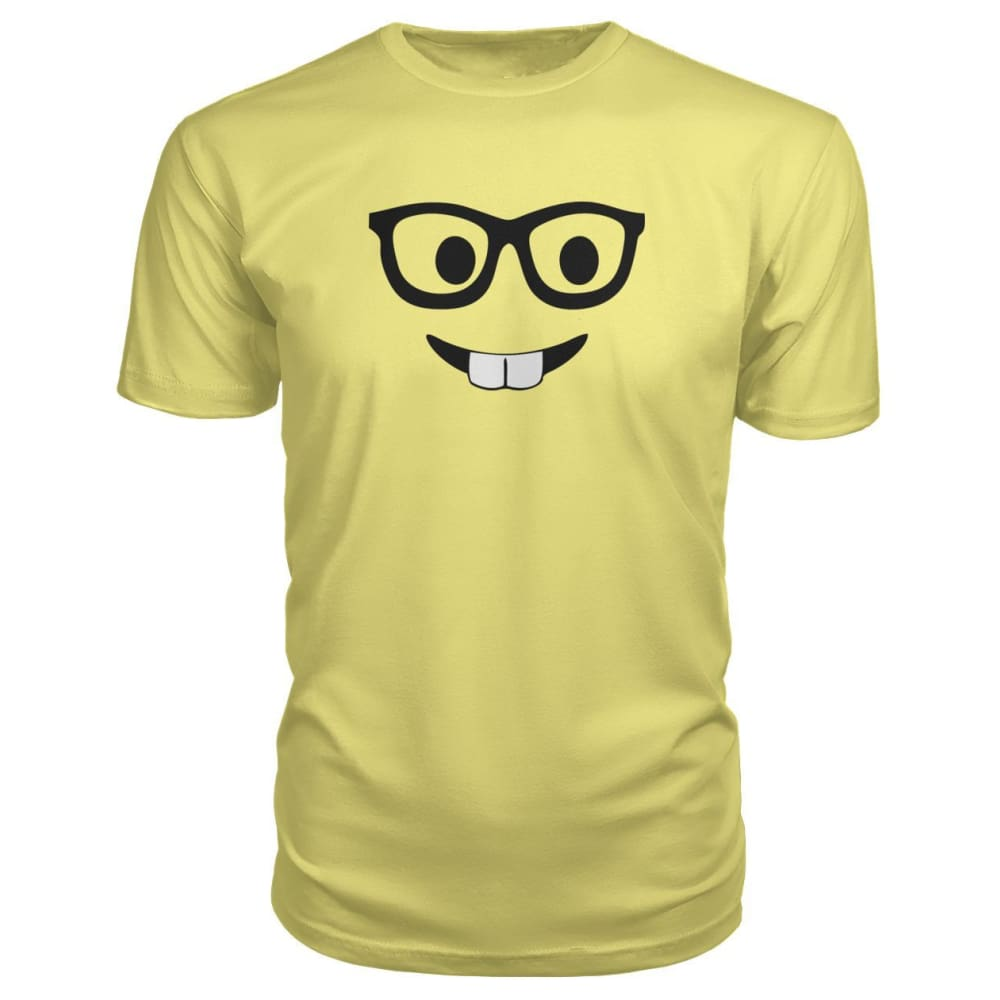 Nerdy Face Premium Tee - Spring Yellow / S - Short Sleeves