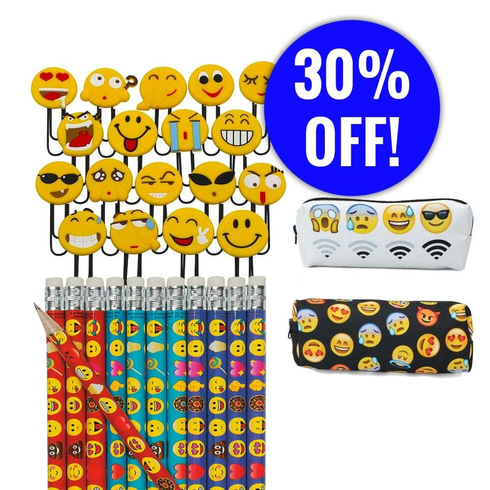 Pencils Pencil Pouch And Paperclips Bundle