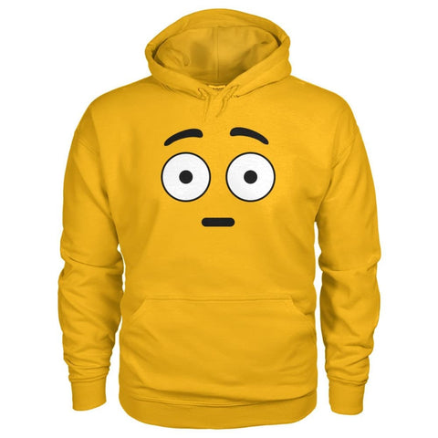 Image of Shocked Face Hoodie - Gold / S - Hoodies