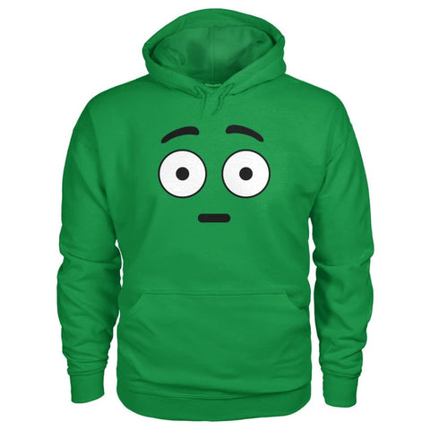Shocked Face Hoodie - Irish Green / S - Hoodies