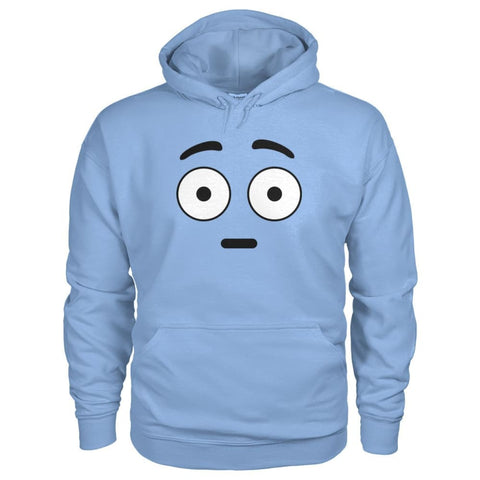 Shocked Face Hoodie - Light Blue / S - Hoodies